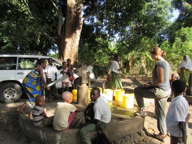 Handpump in Kwale, Kenya (Oxford University)