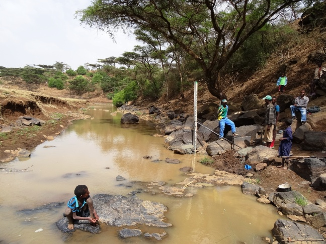 Community river monitoring in Dangila woreda, Ethopia (D. Walker, Newcastle University)