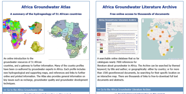 Africa Groundwater Atlas – your opinion / votre avis – UPGro